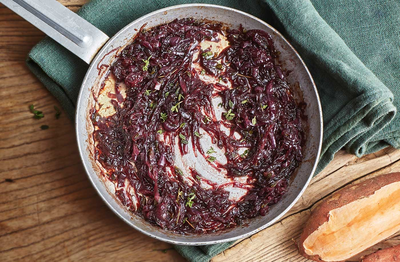 Caramelised red onions recipe