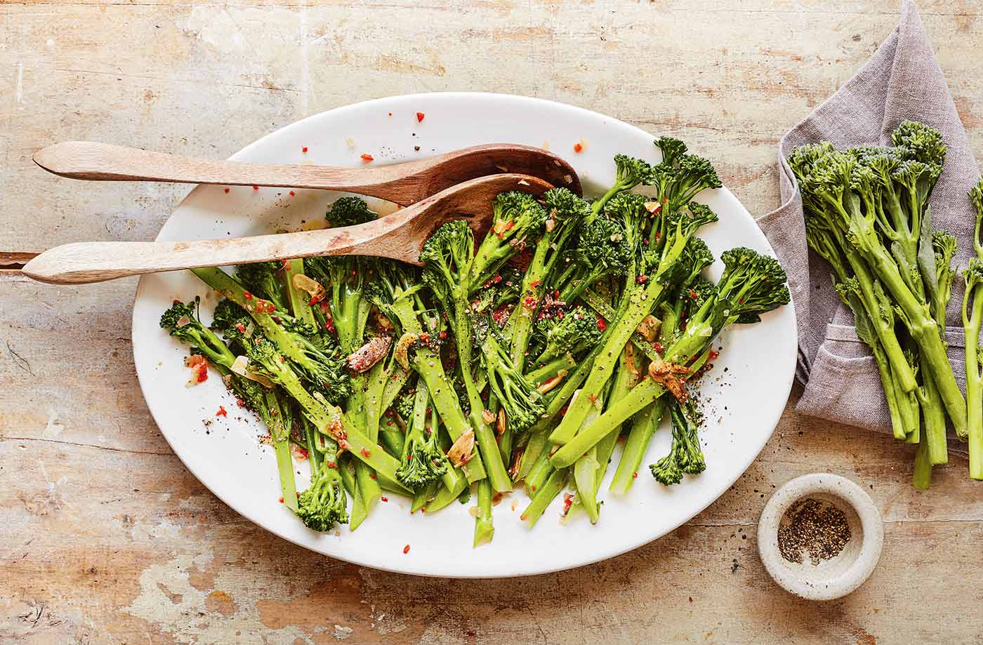 Charred Broccoli With Anchovies Broccoli Recipes Tesco Real Food