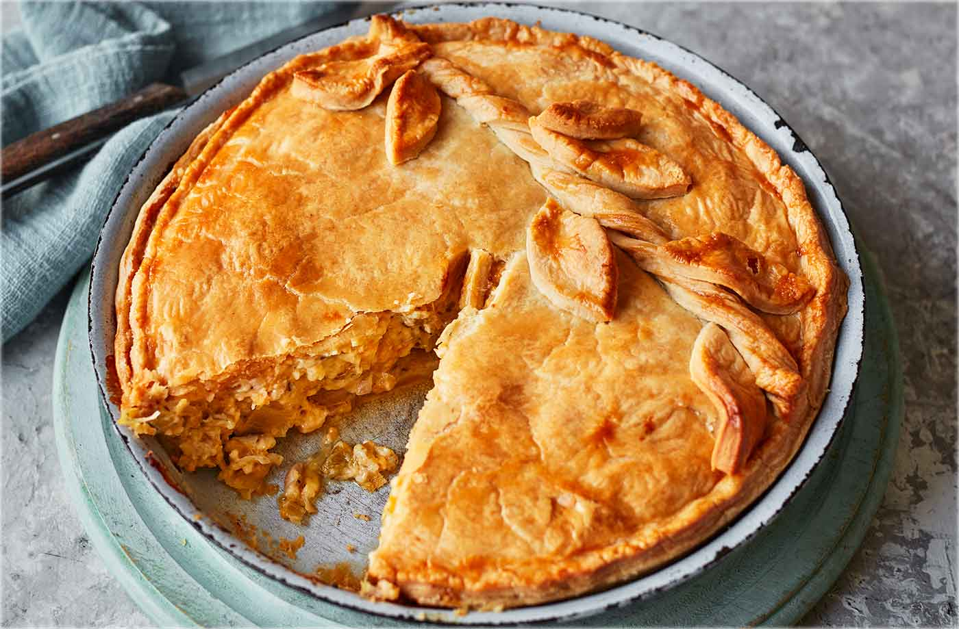 Ultimate cheese and onion pie