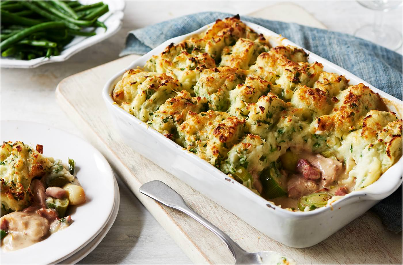Chicken bacon leek cottage pie recipe tesco real food forumfinder