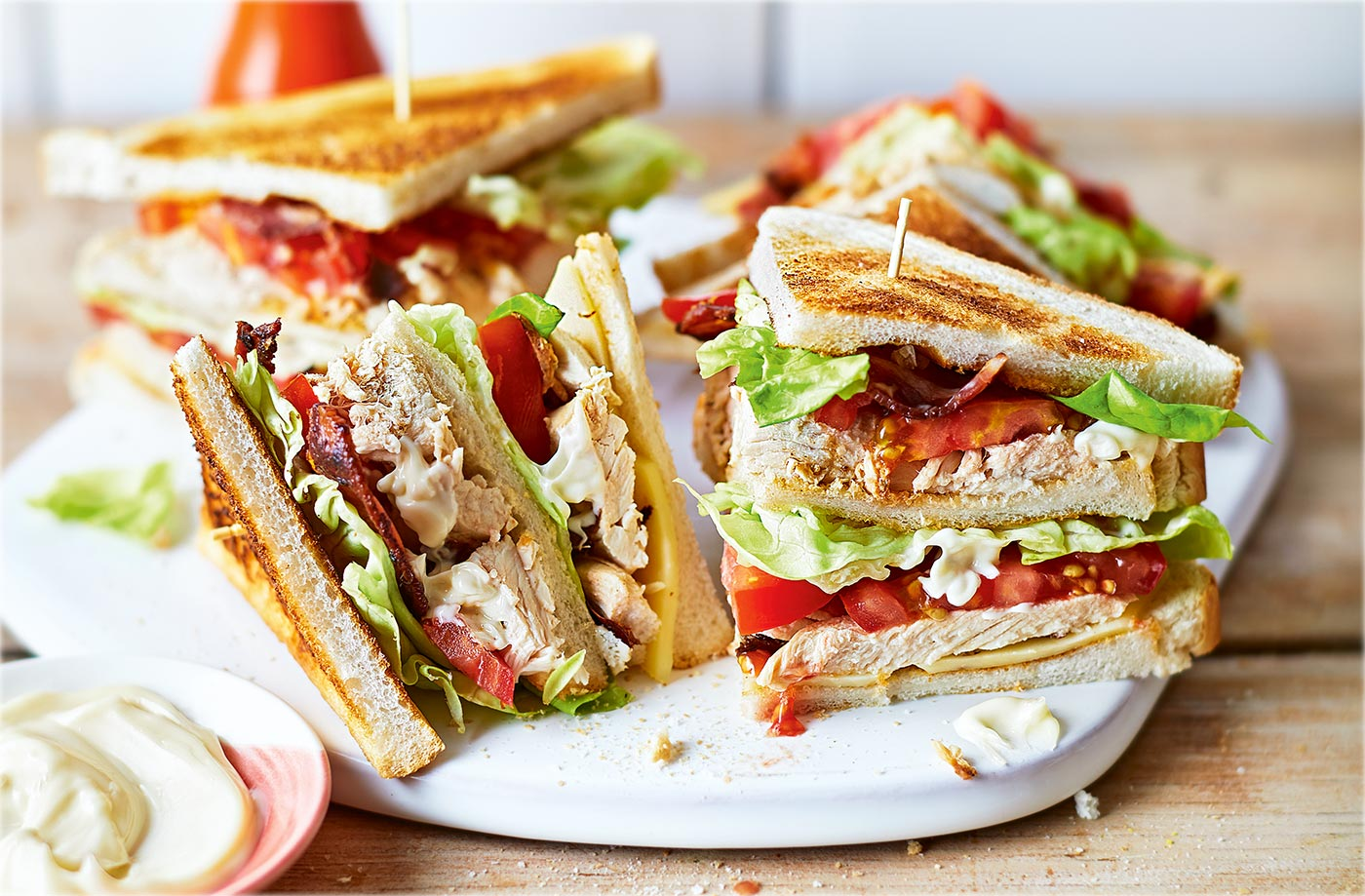 Classic chicken club sandwich | Tesco Real Food