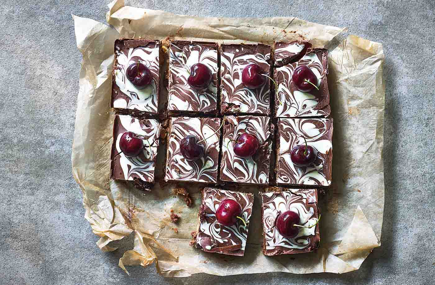 Chocolate, ginger and cherry tiffin recipe