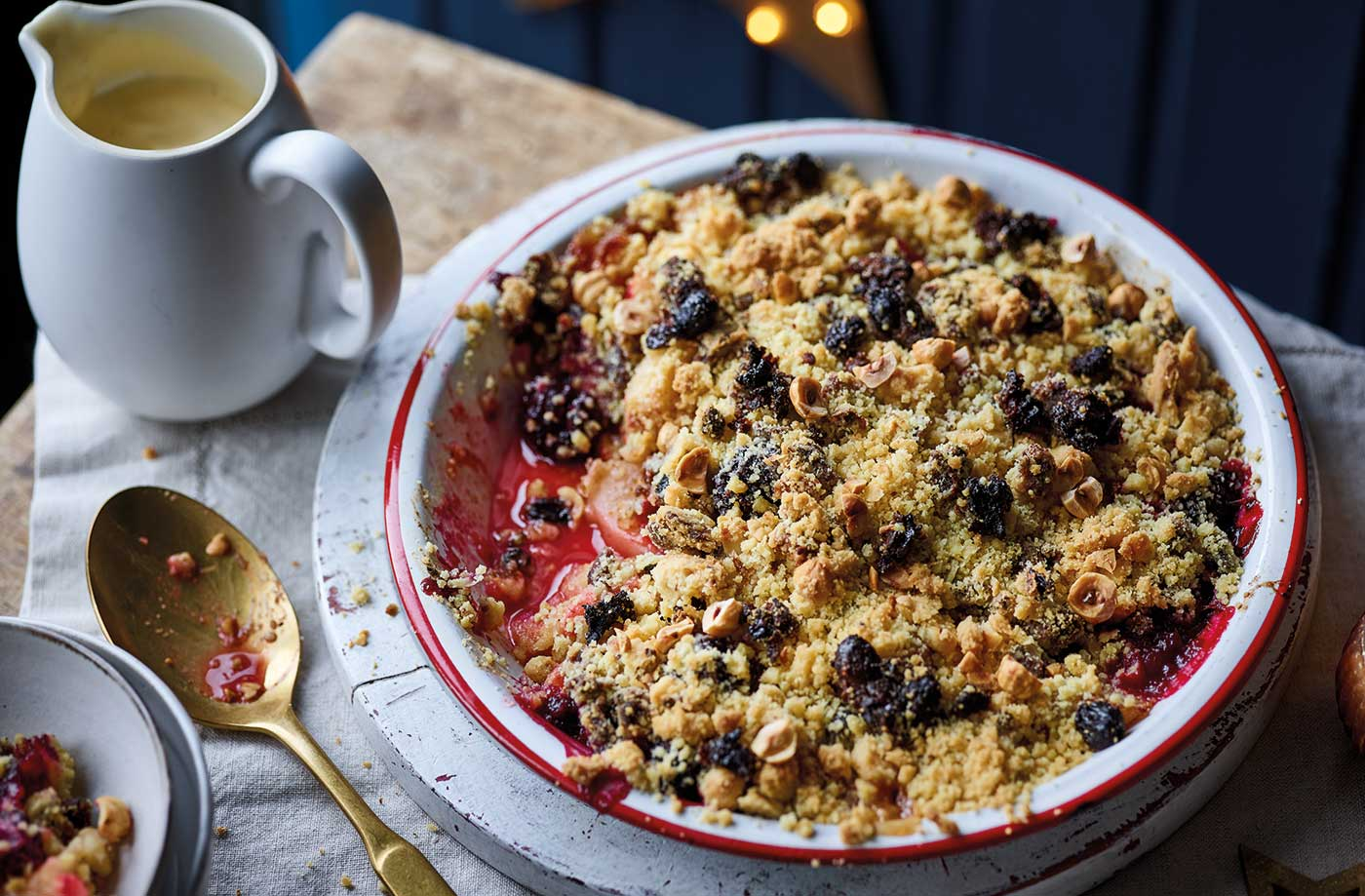Christmas pudding crumble recipe