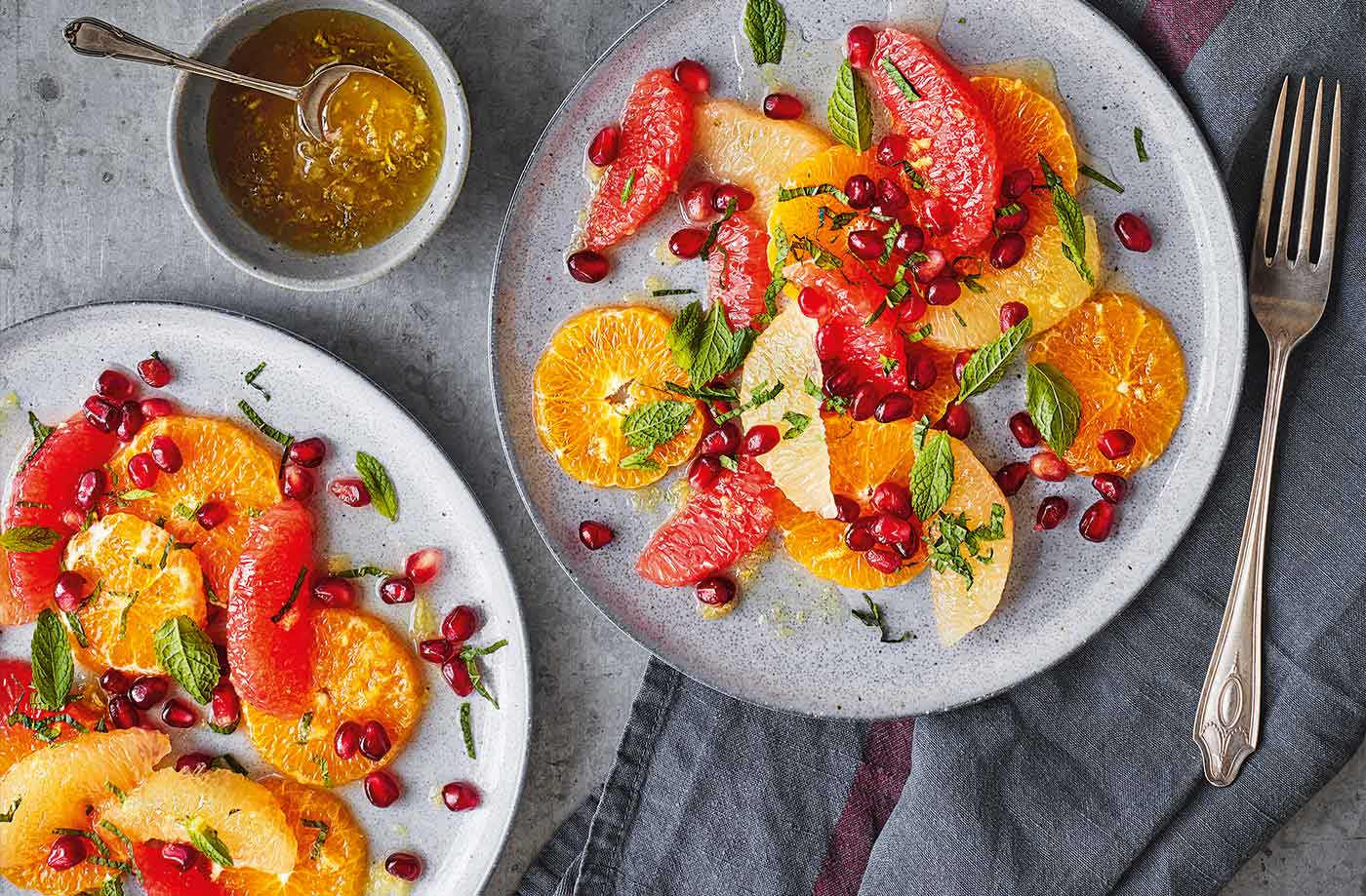 Clementine, pomegranate and grapefruit salad recipe