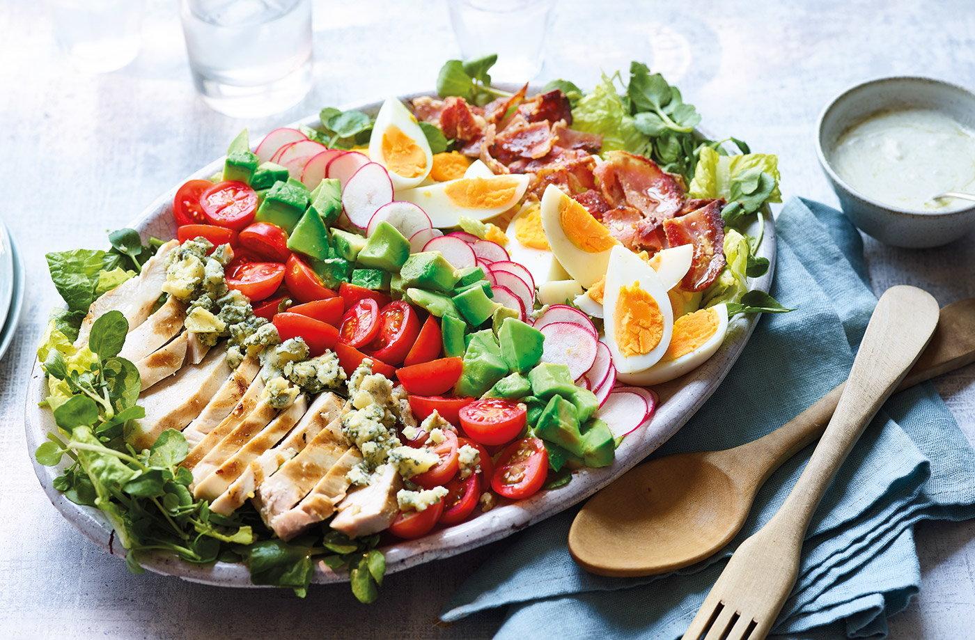 Cobb Salad Recipe Chicken Salad Recipes Tesco Real Food
