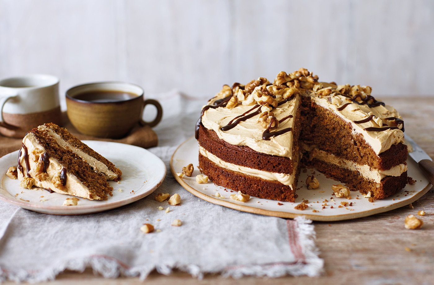 Coffee And Walnut Cake Recipe Coffee Cake Tesco Real Food