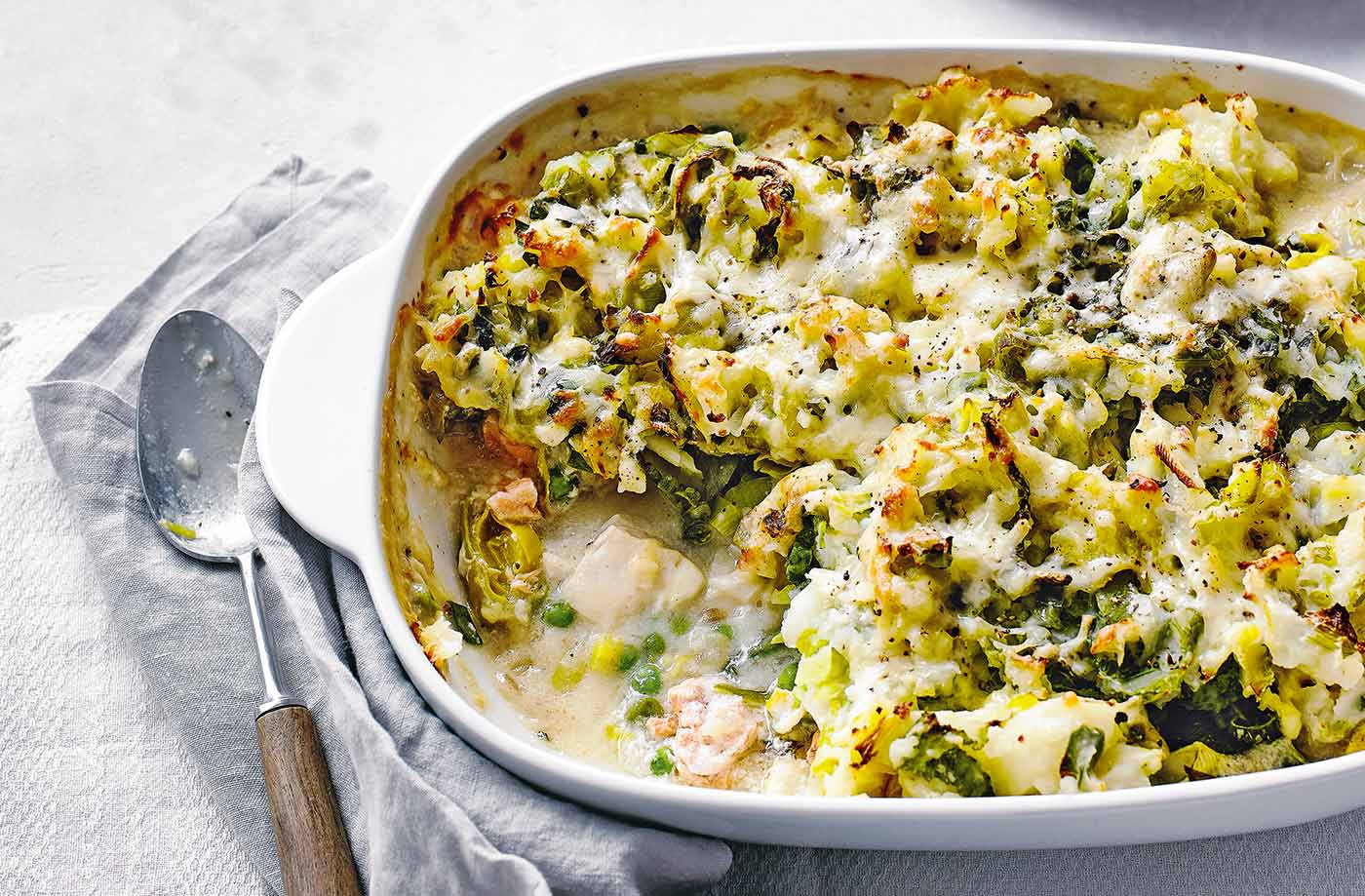 Colcannon fish pie