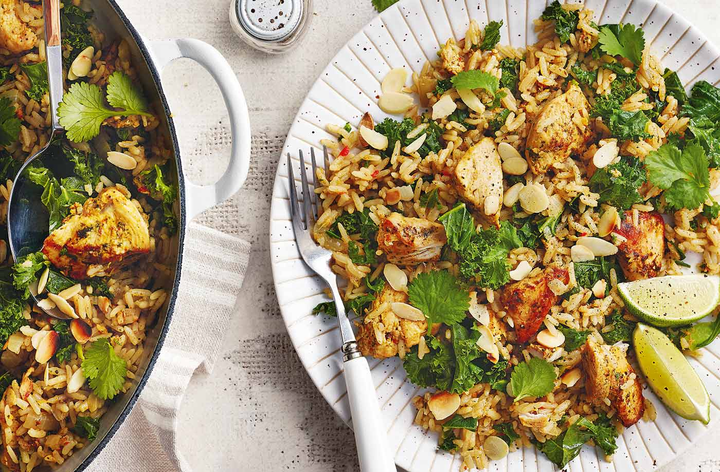 Coriander chicken pilaf recipe