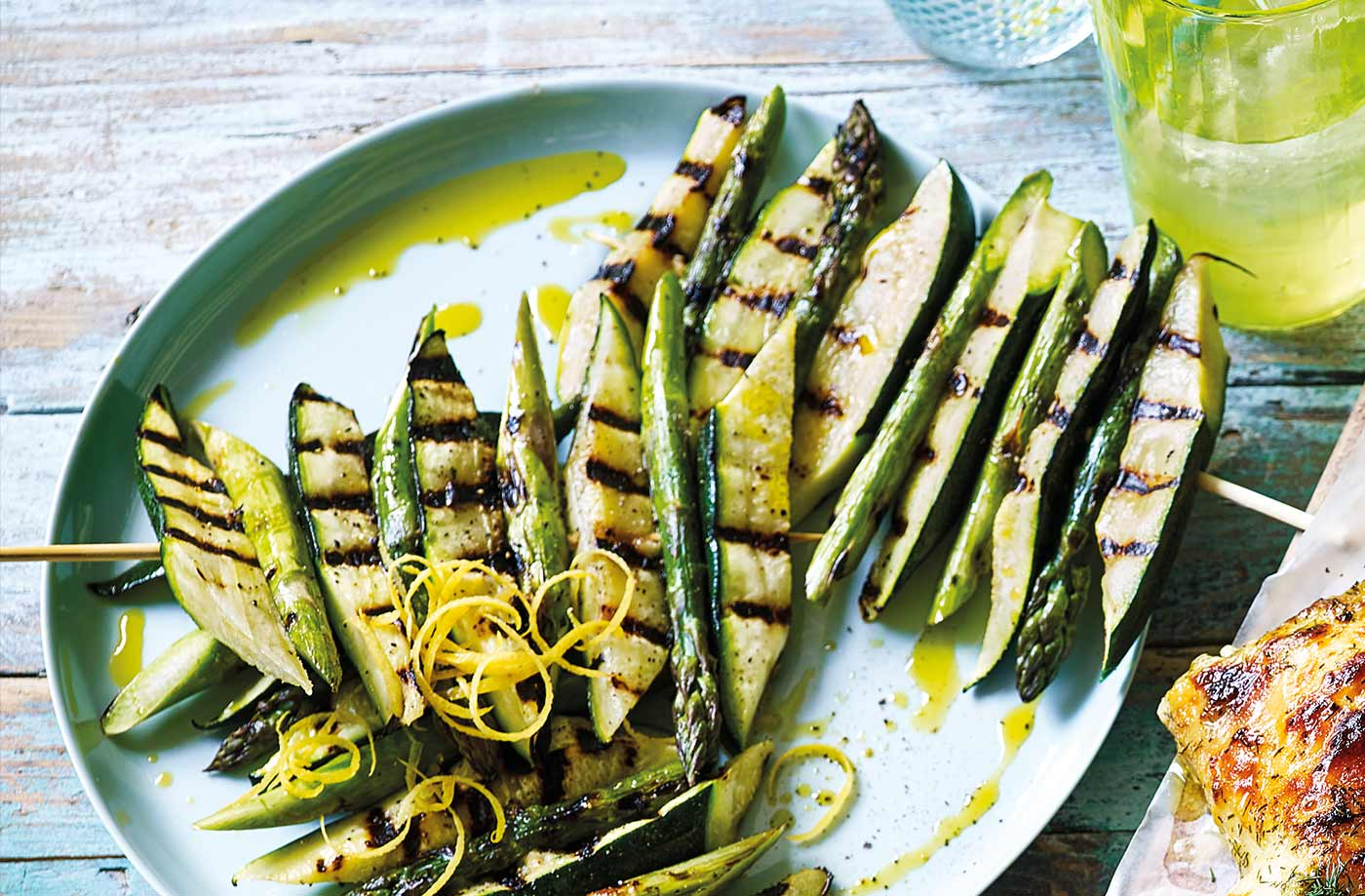 Courgette and asparagus ladders recipe