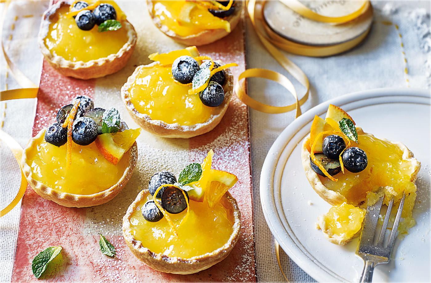 Orange Lemon Curd Cake