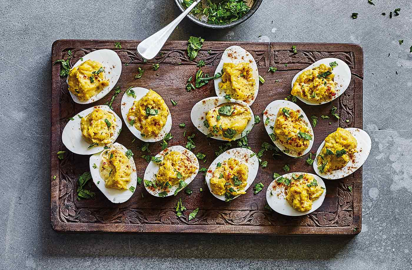 Indian-spiced devilled eggs