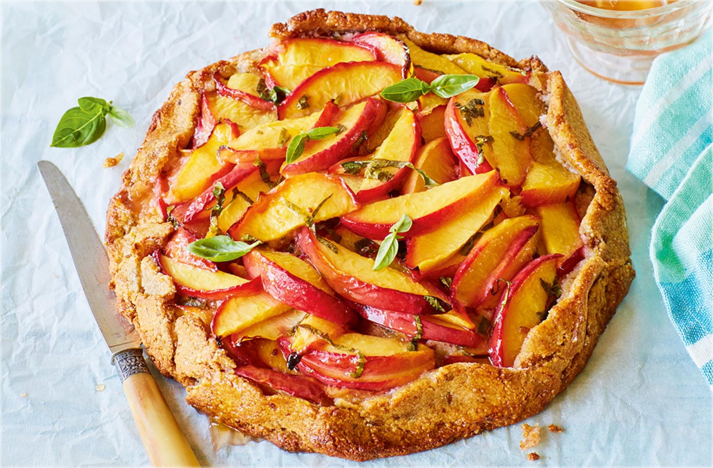 Nectarine and basil galette recipe