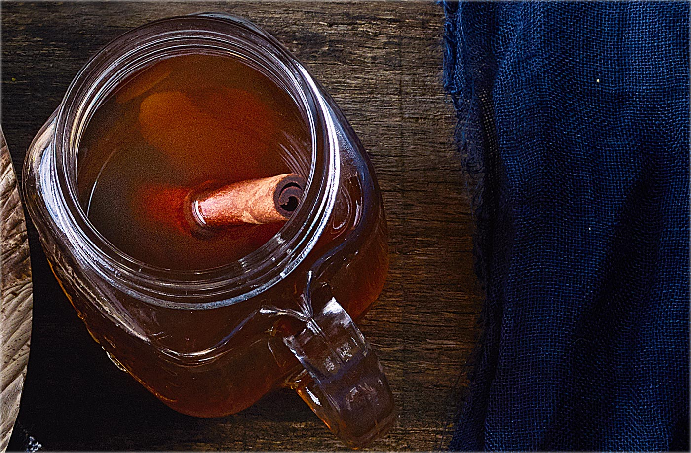 Ginger-spiced hot toddies recipe
