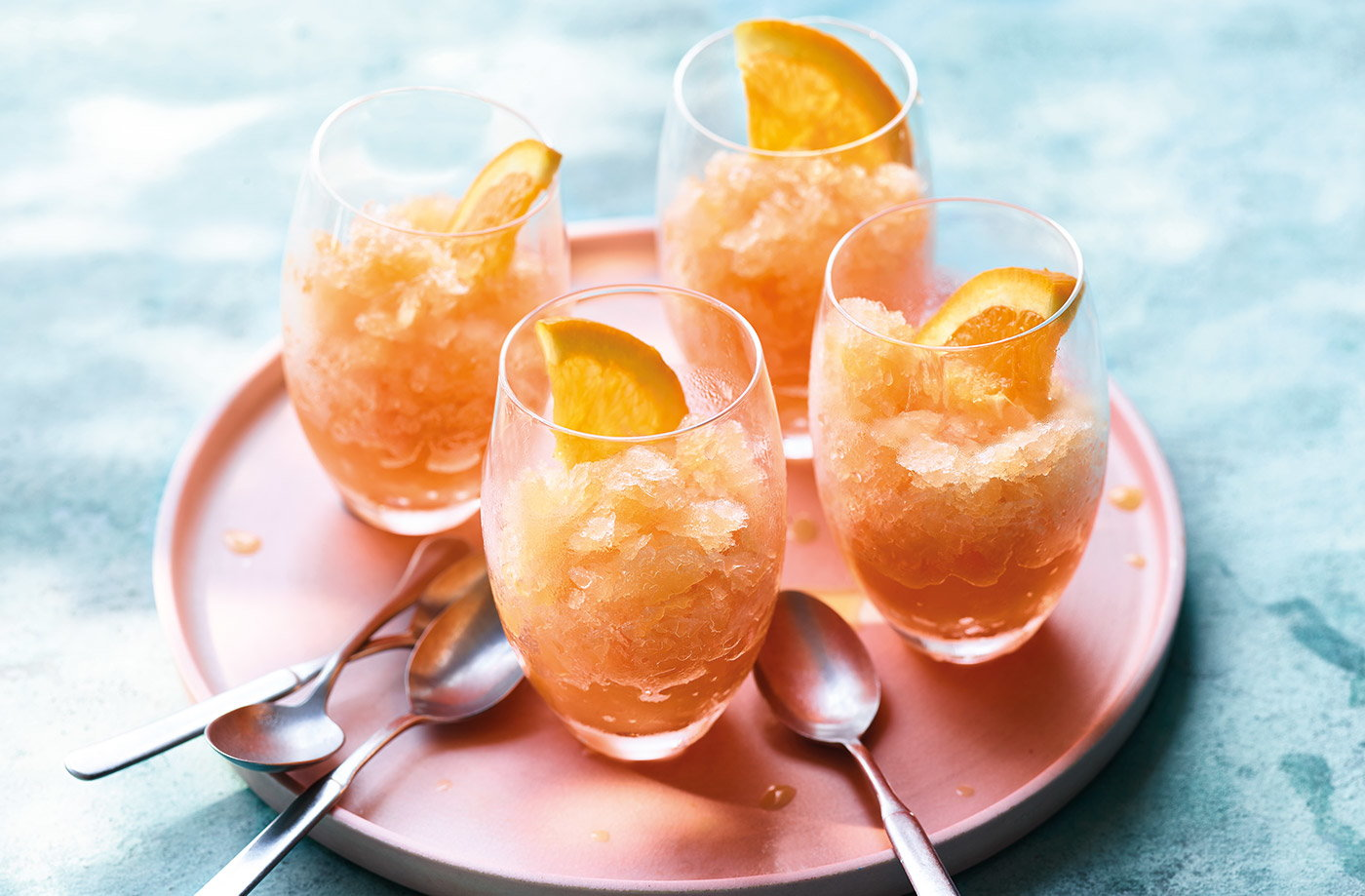 Aperol, orange and prosecco granita recipe