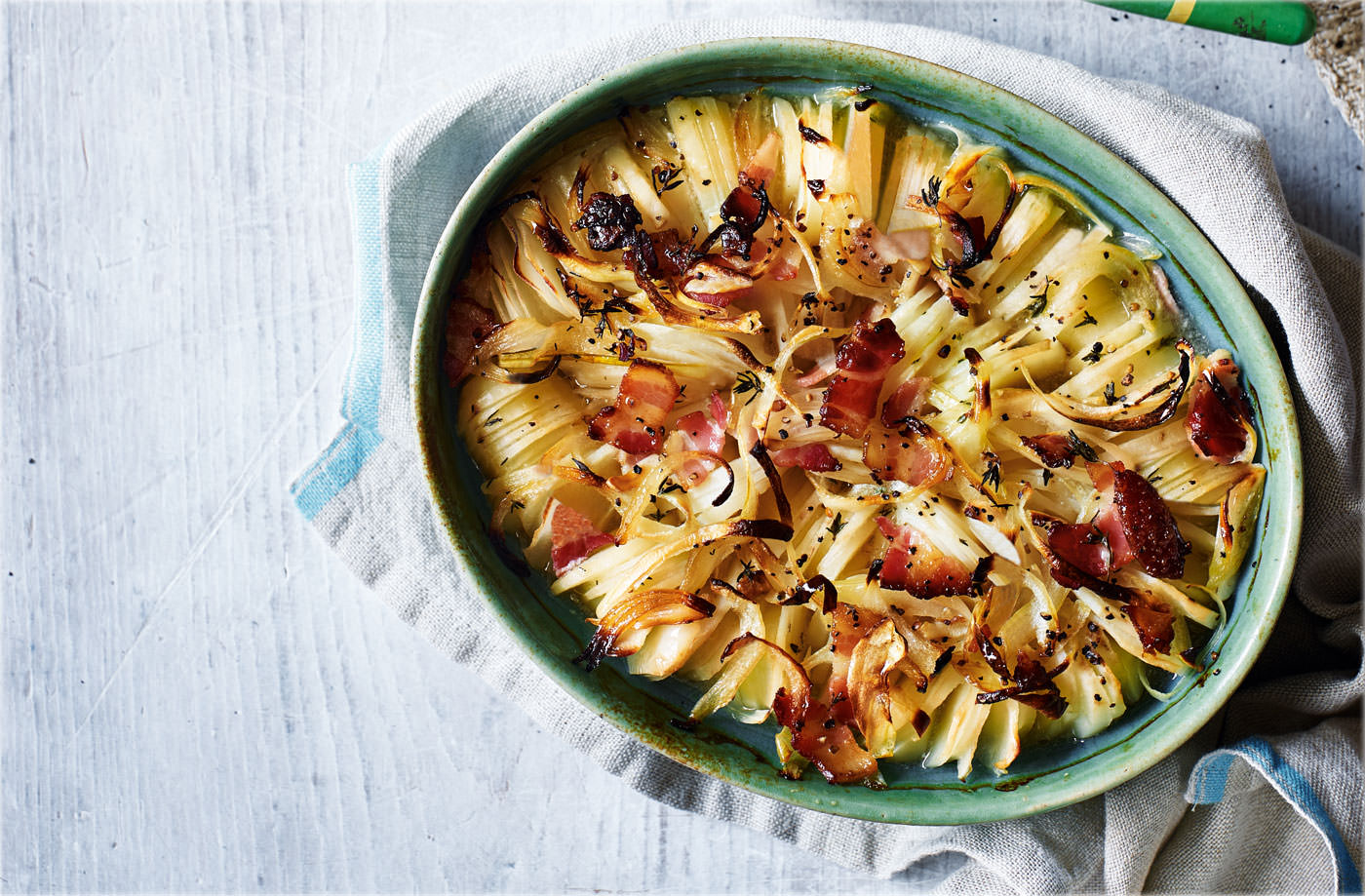 Spiral potato gratin recipe