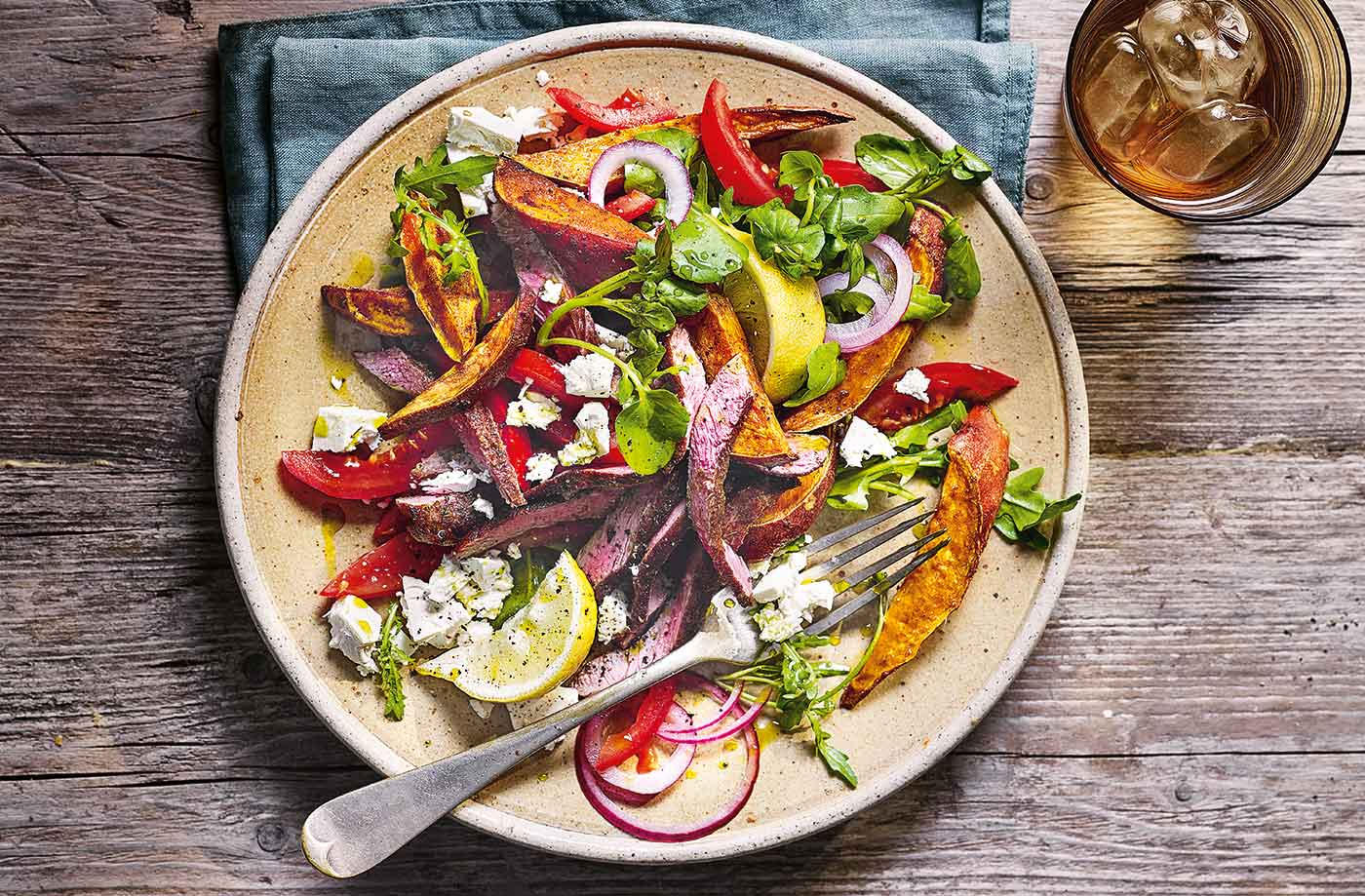 Greek Style Lamb And Sweet Potato Salad