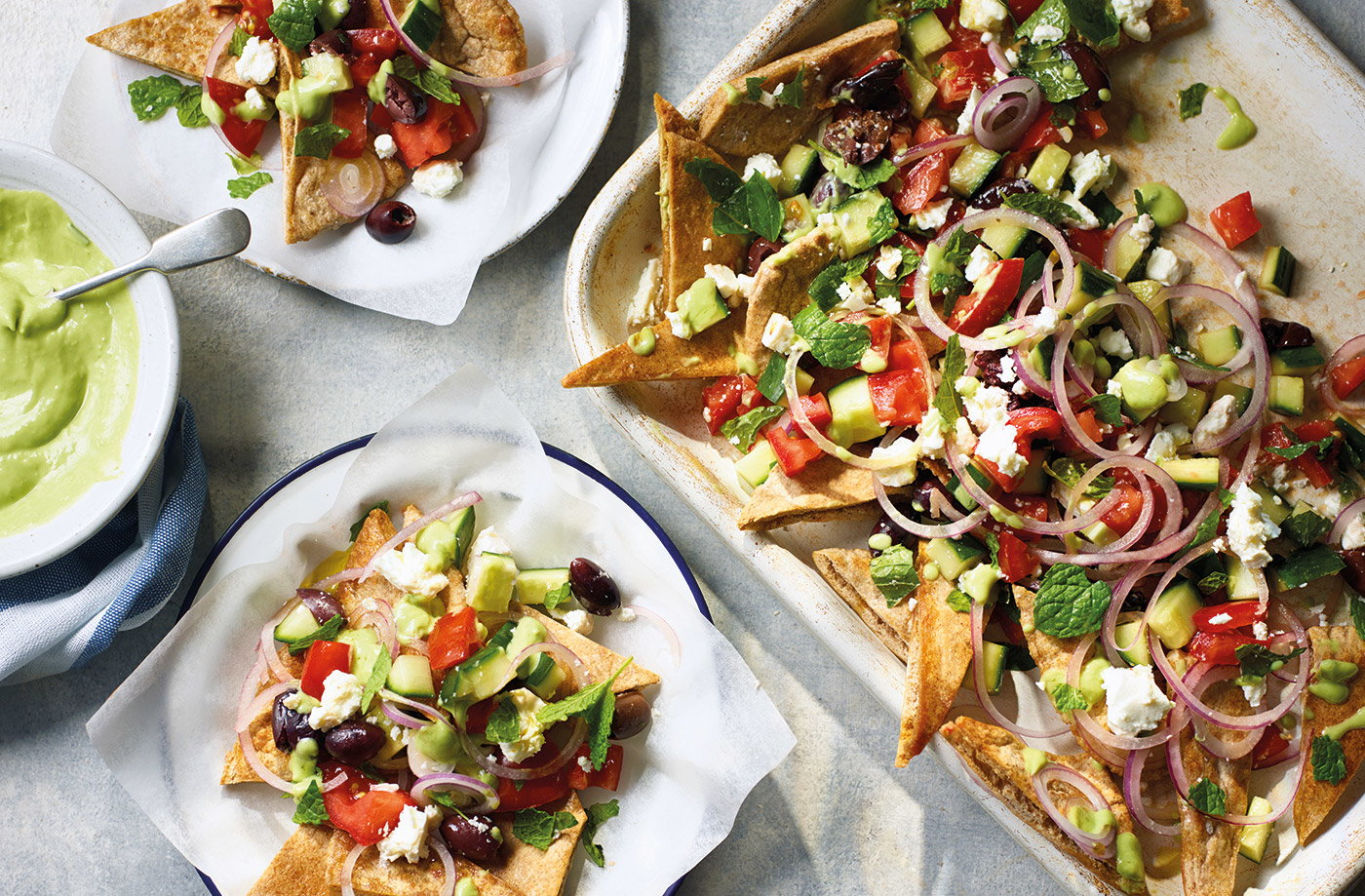 Greek salad nachos recipe