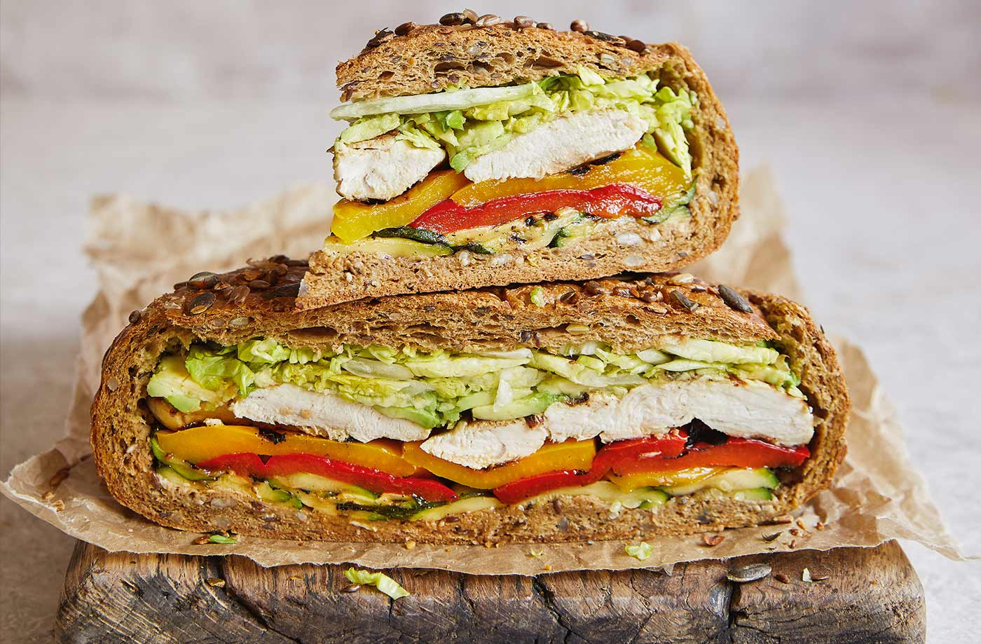 Griddled chicken and avo sarnie recipe