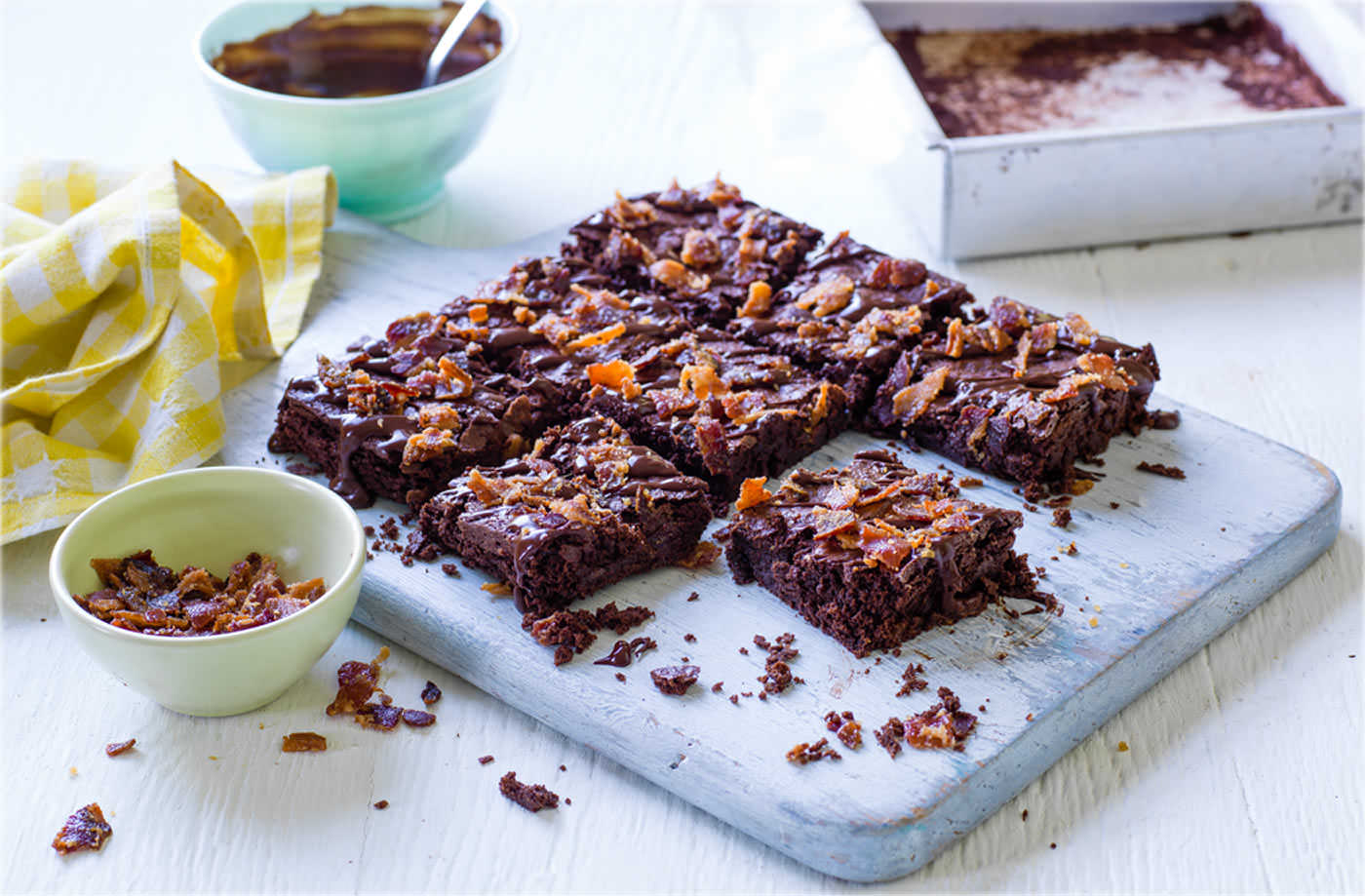 Bacon and whiskey brownies recipe