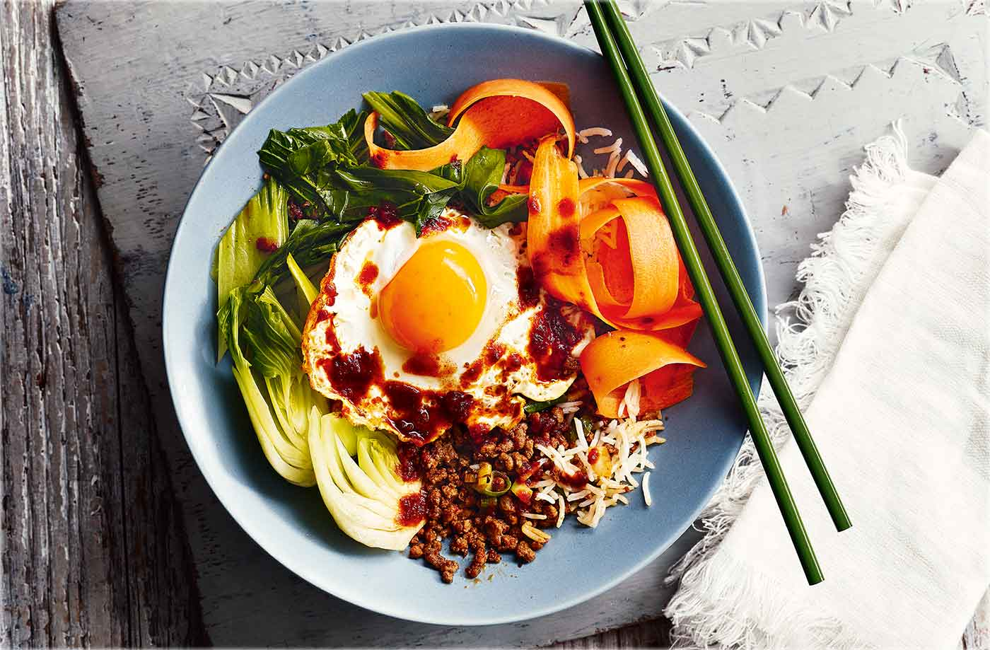 Korean-style beef bibimbap recipe