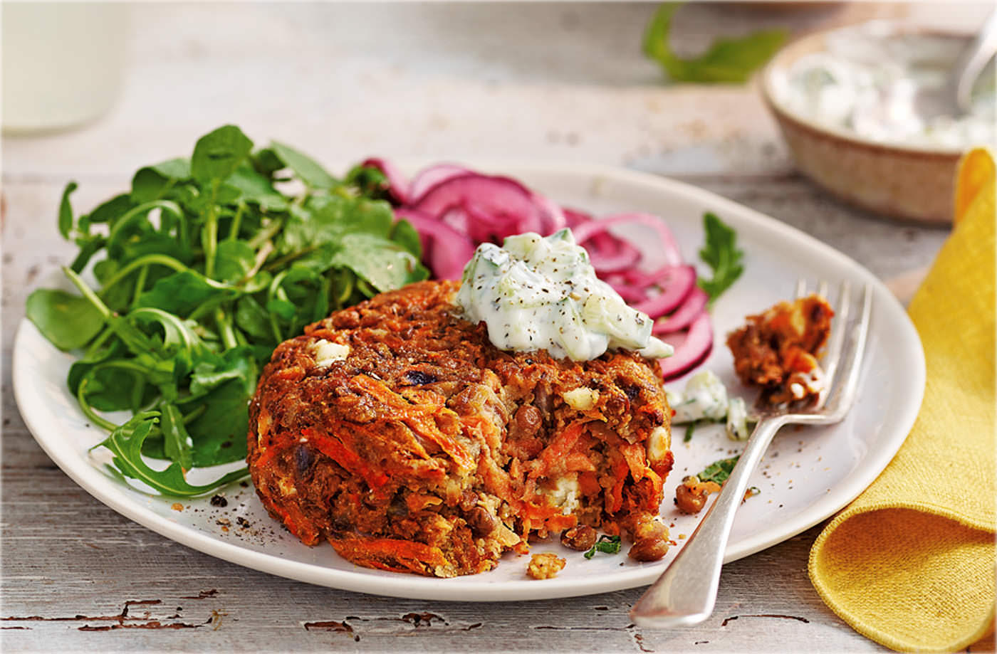 Carrot feta burger recipe vegetarian recipes tesco real food forumfinder Gallery