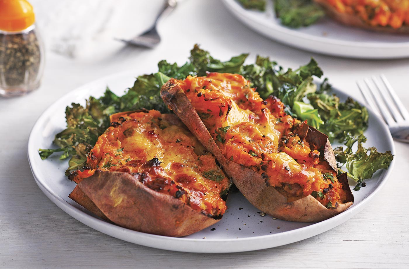 Loaded Sweet Potatoes Recipe Baked Sweet Potato Tesco Real Food