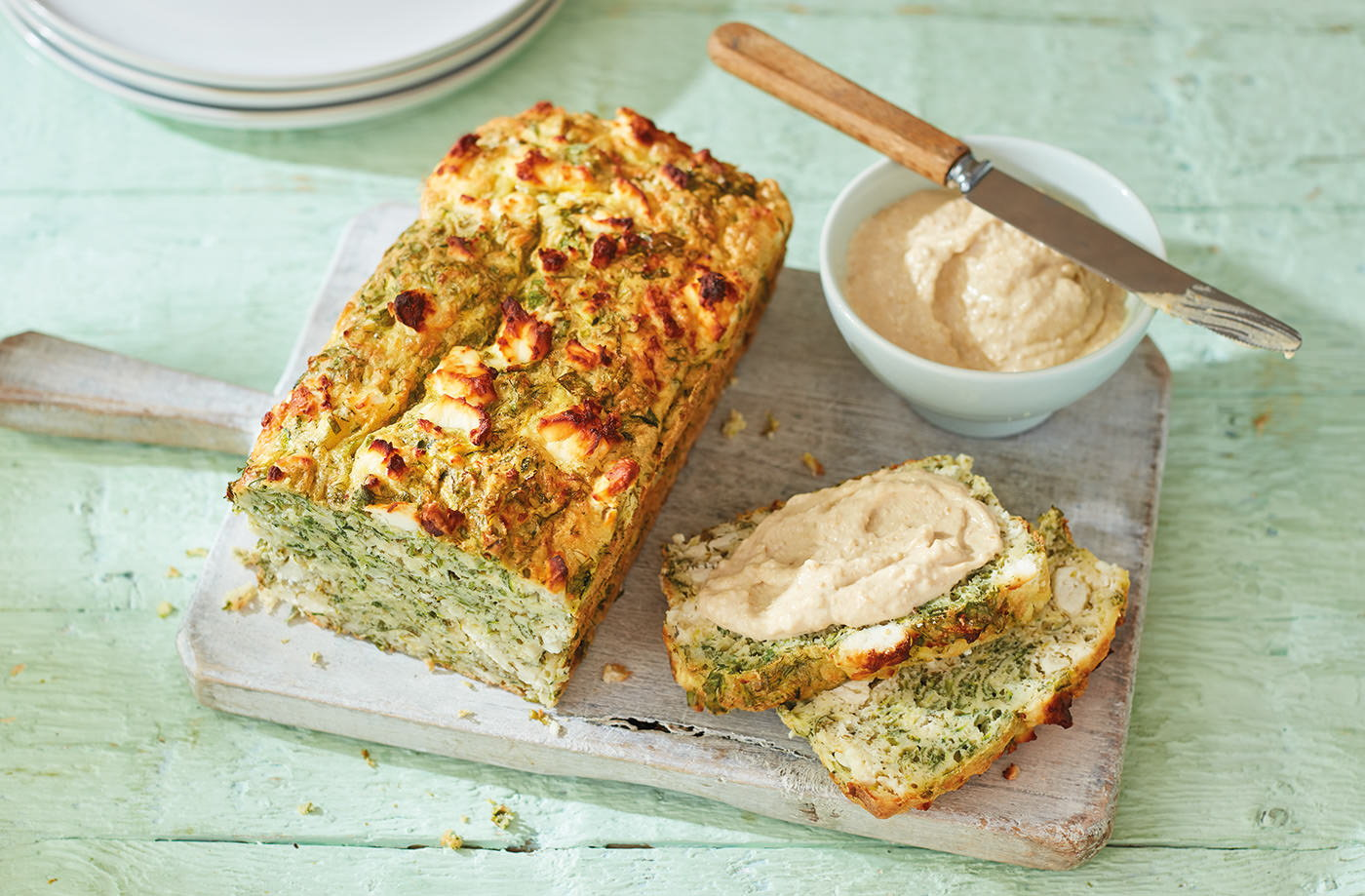 Gluten-free courgette and feta bread  recipe