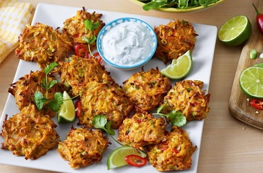 Marc's 'winning' sweet potato fritters