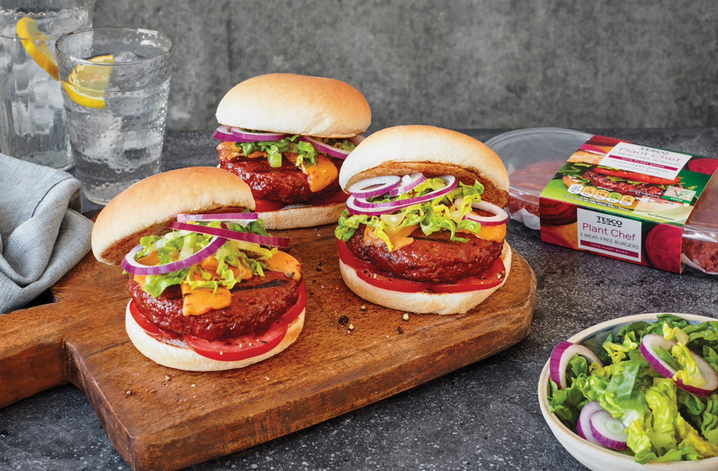 Meat-free burgers recipe