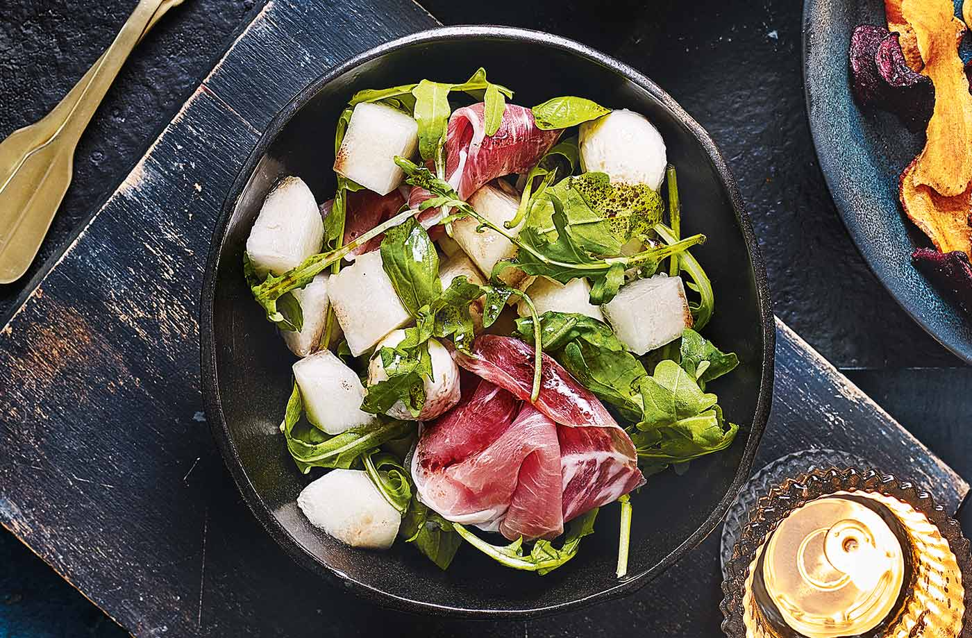 Melon and Parma ham bowls recipe