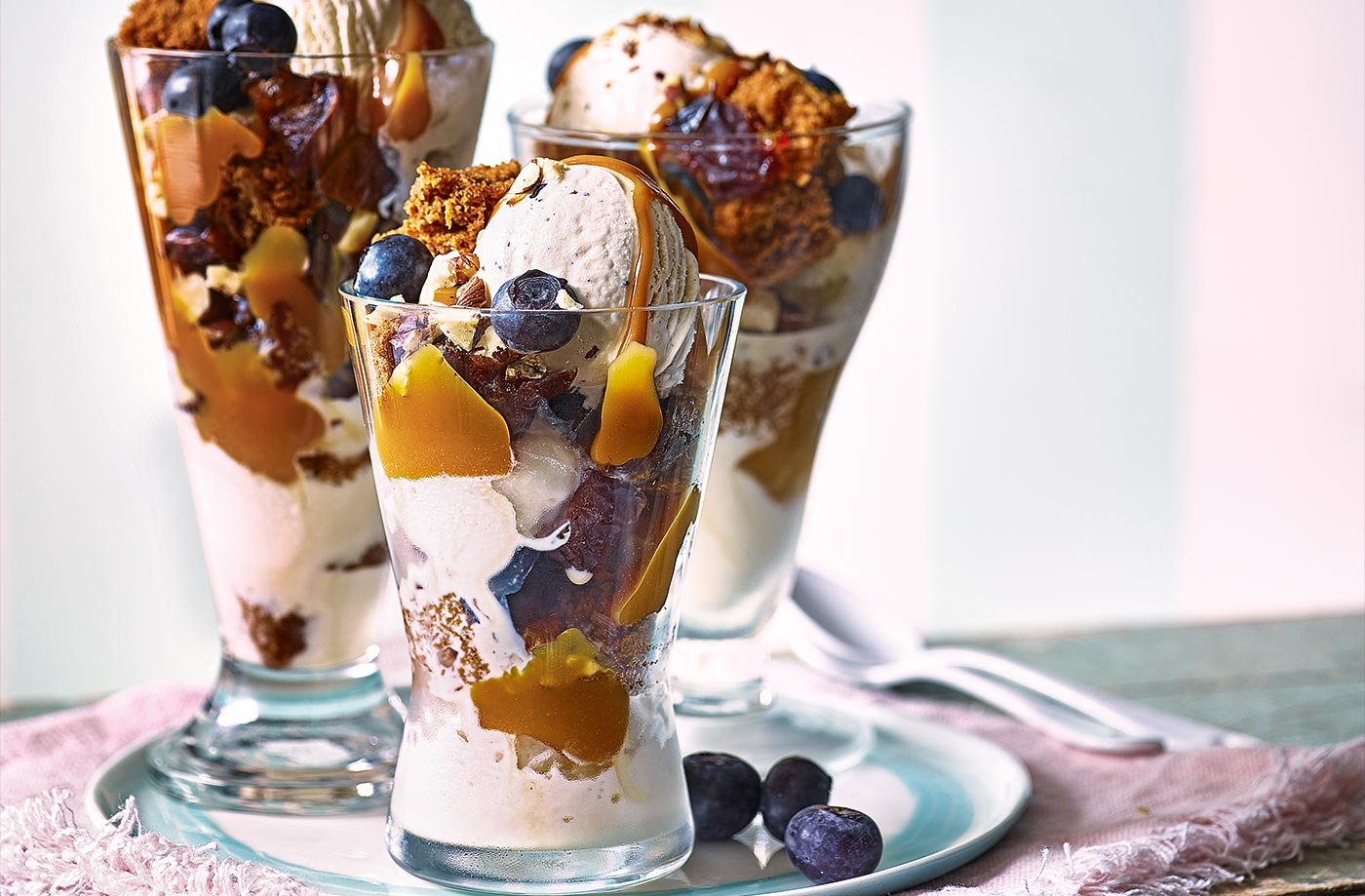 Mini sticky toffee sundaes recipe