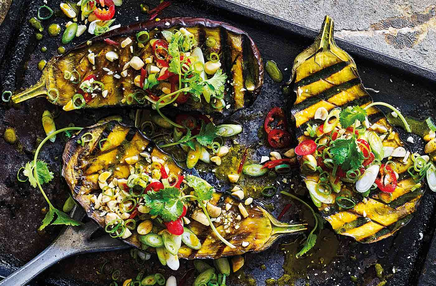 Barbecue miso aubergine recipe