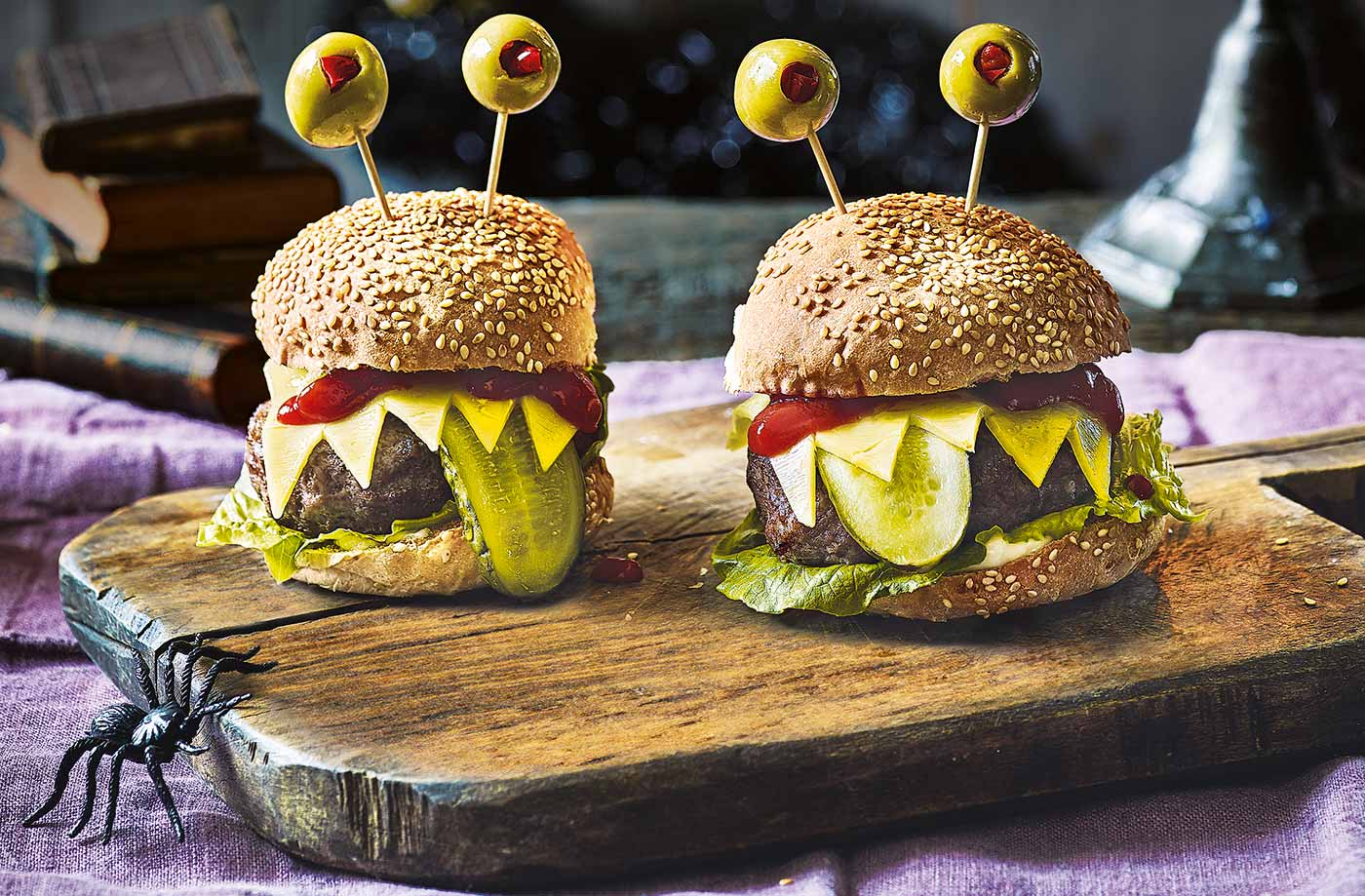 Halloween Hamburgers.Monster Burgers