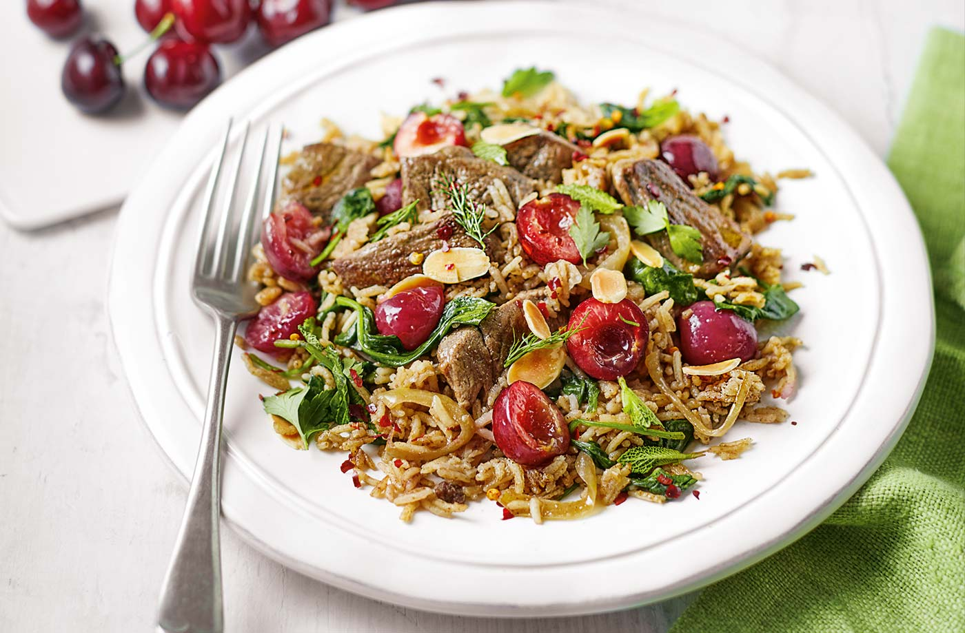 One-pot lamb and cherry pilaf recipe