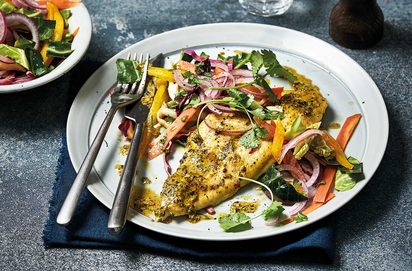 Peanut-crusted basa fillets recipe