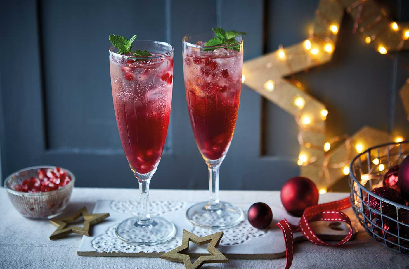 Cranberry and pomegranate punch
