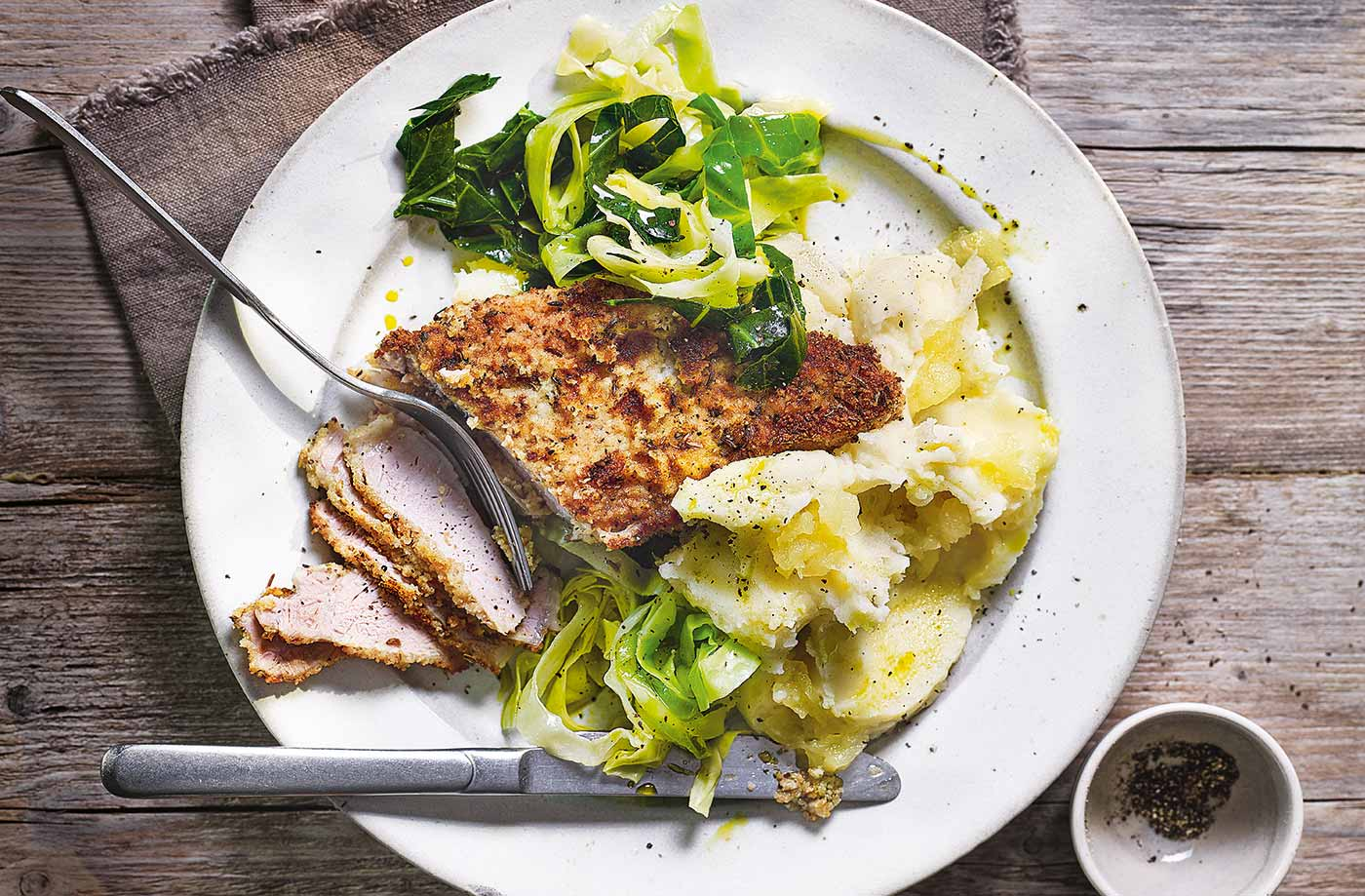 Sage Pork With Potato & Apple Mash Recipe   Tesco Real Food