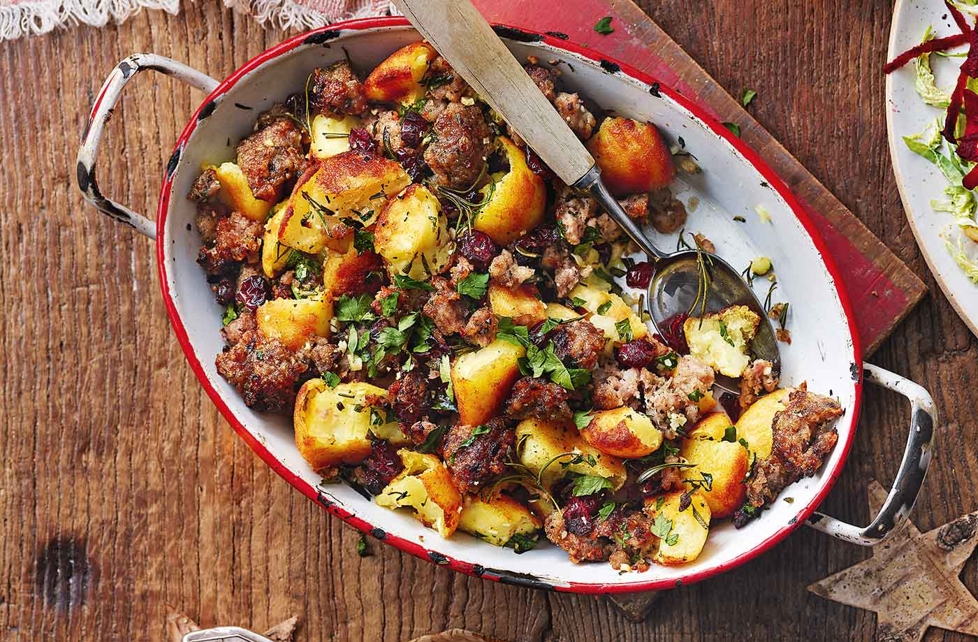 Potato and stuffing hash recipe