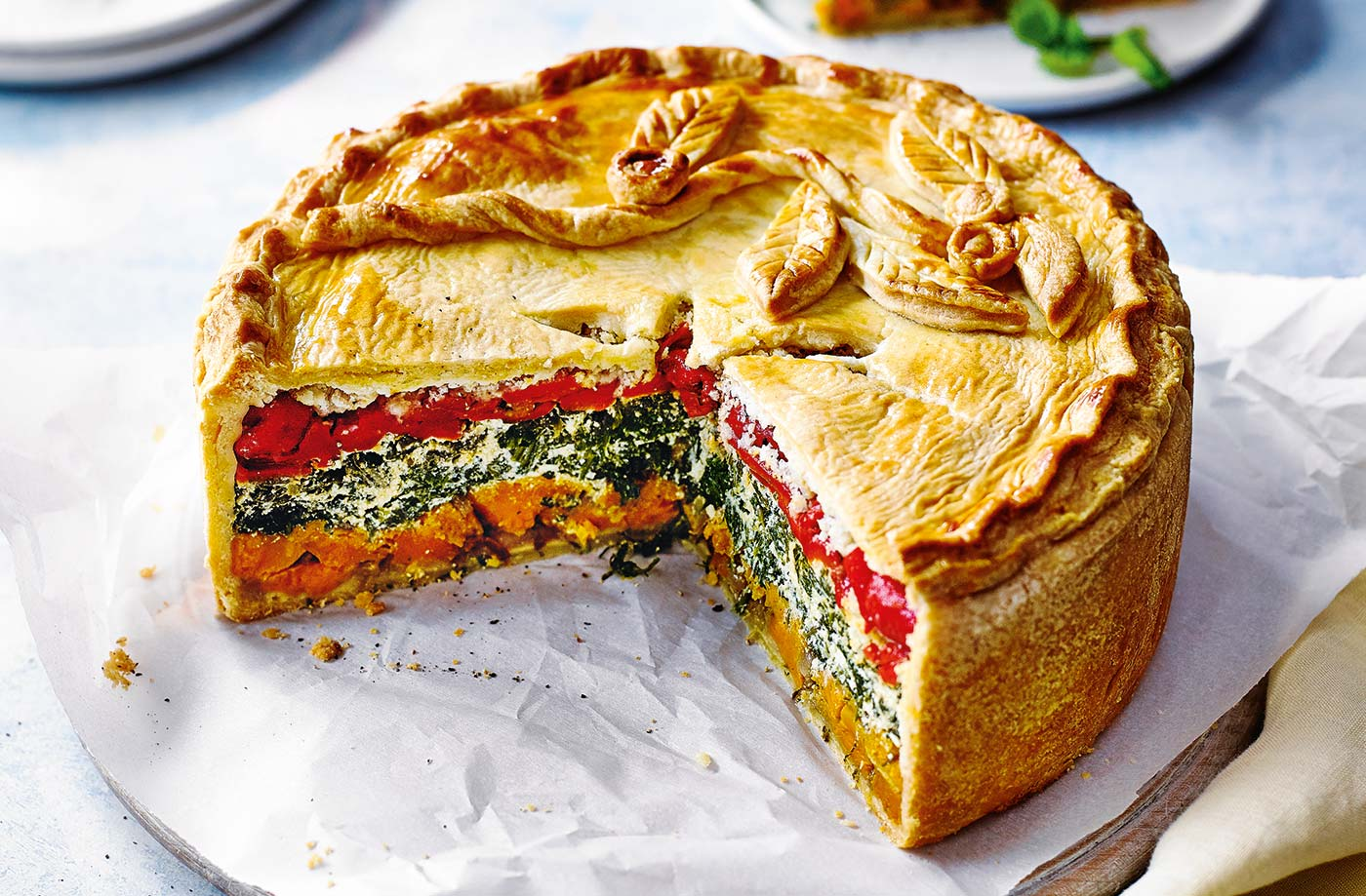 Rainbow picnic pie recipe
