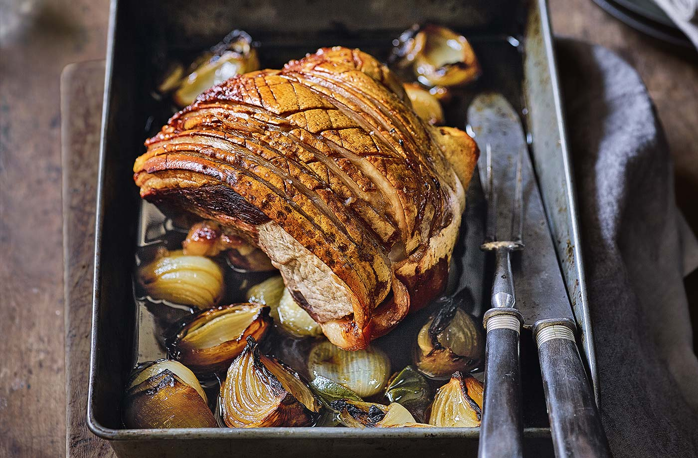 Roast pork with crackling recipe