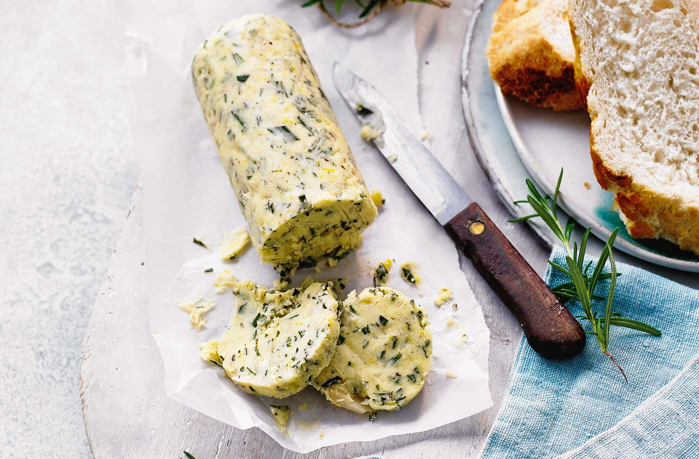 Rosemary, lemon and roasted garlic butter recipe