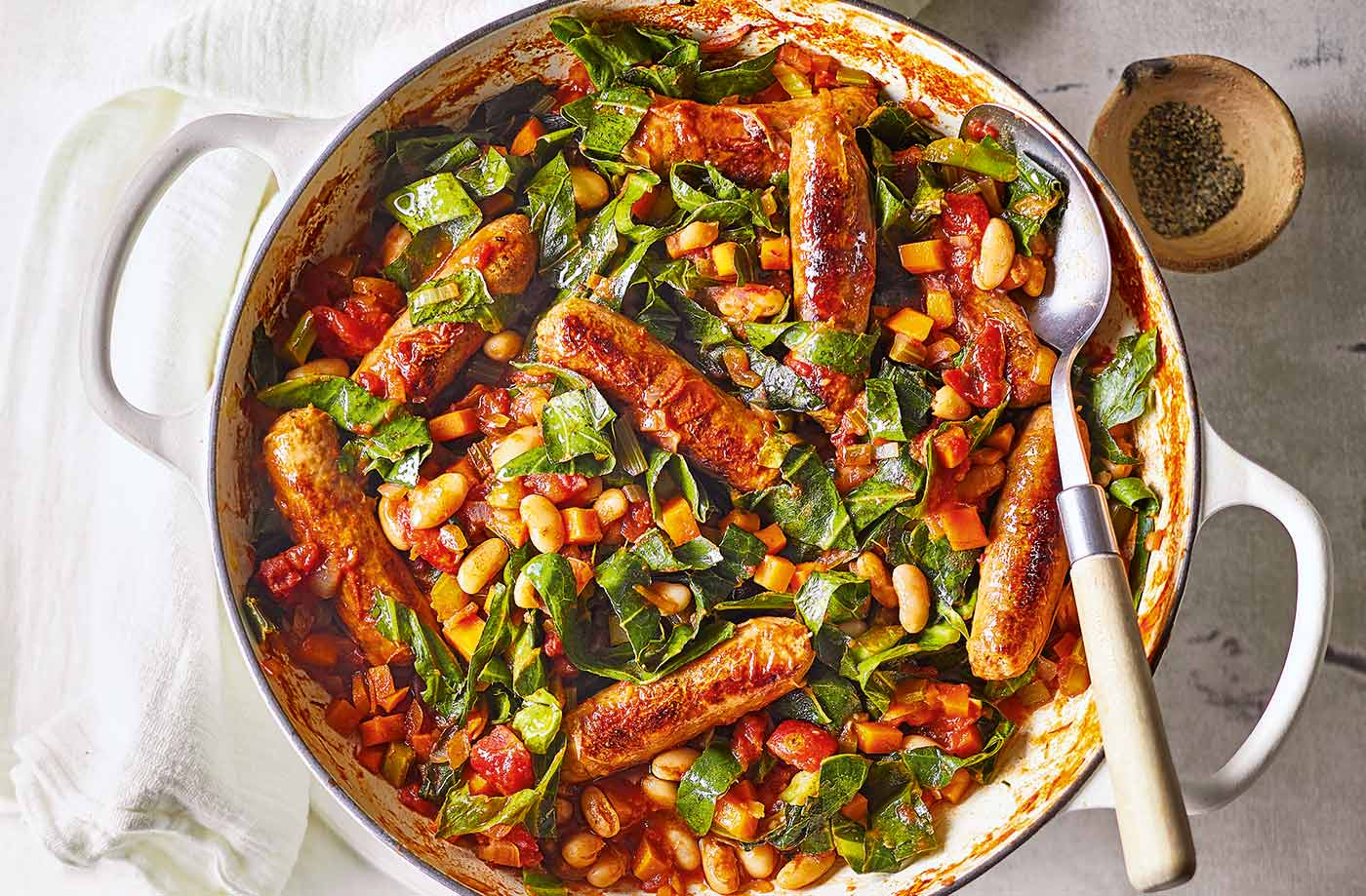 sausage and bean casserole casserole recipes tesco real food