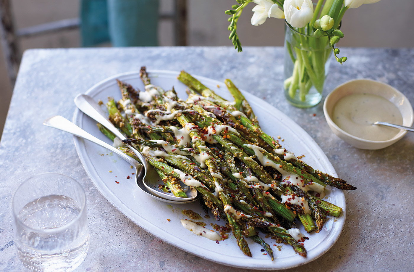 Sesame roasted asparagus recipe