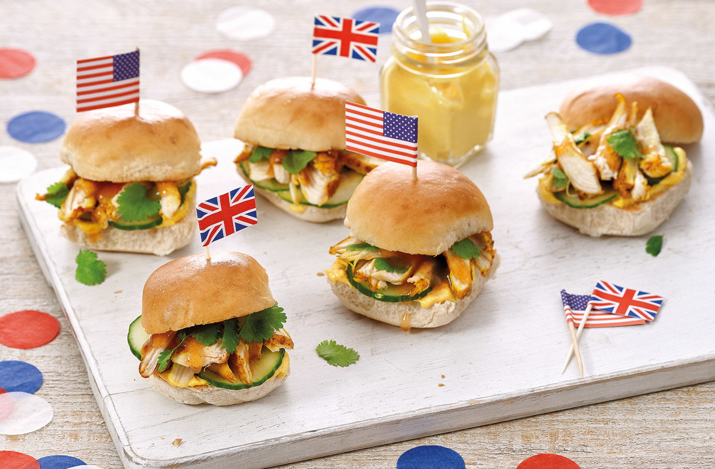 Coronation chicken sliders recipe