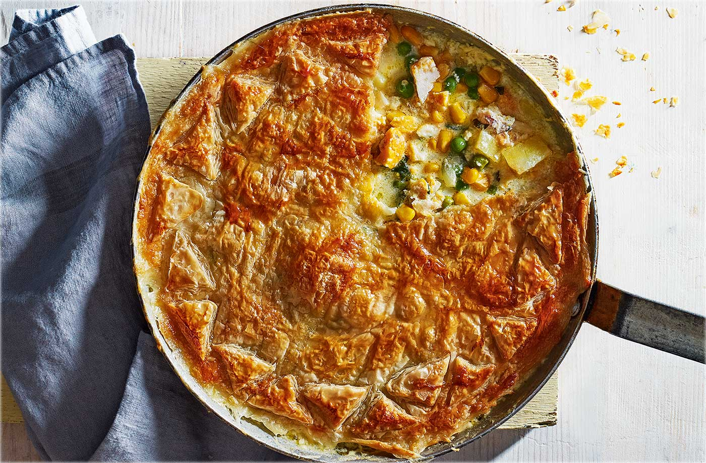 10 perfect pie recipes tesco real food for Fish pot pie