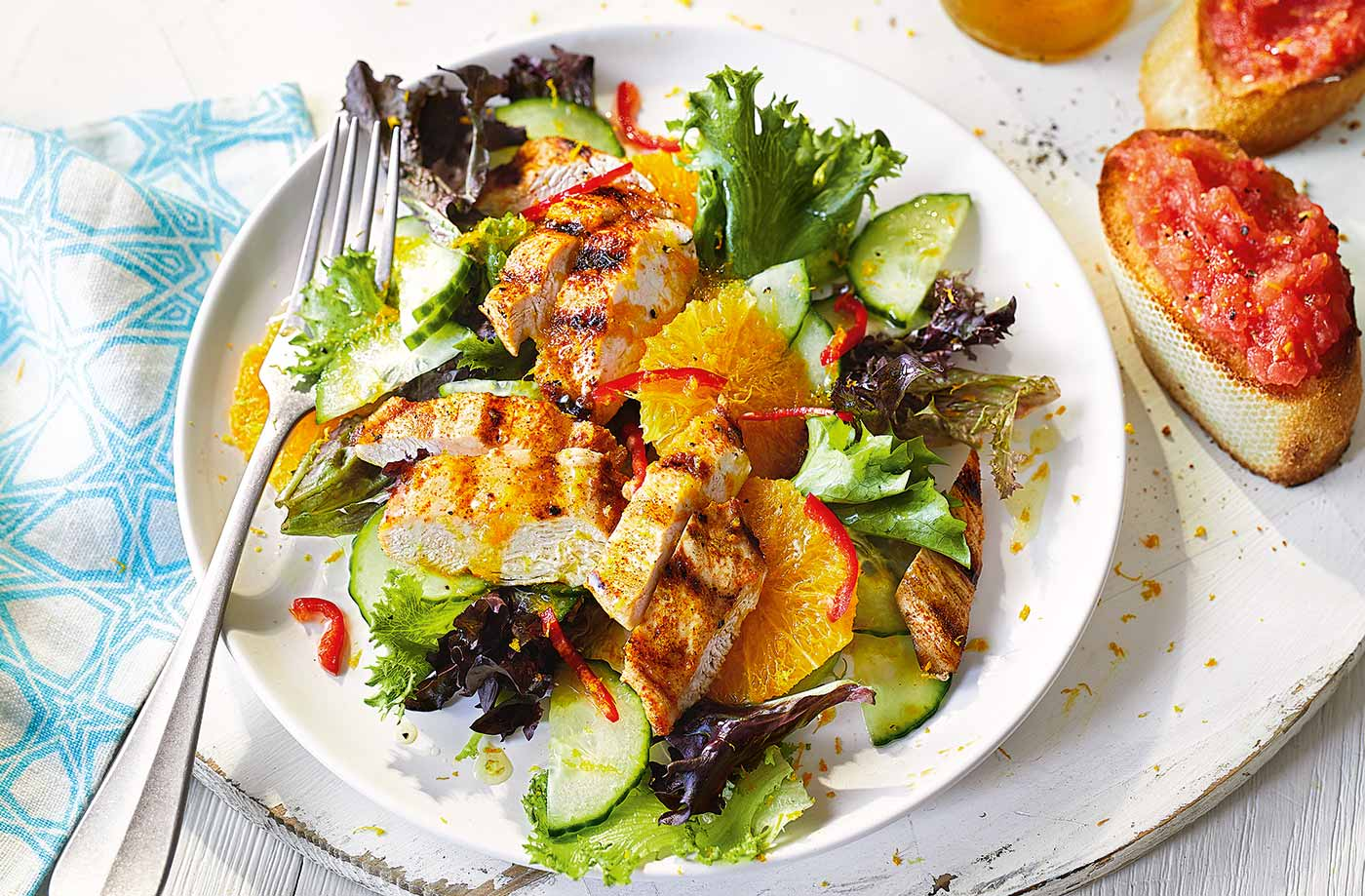 Spanish Chicken Salad Recipe Chicken Recipes Tesco Real Food