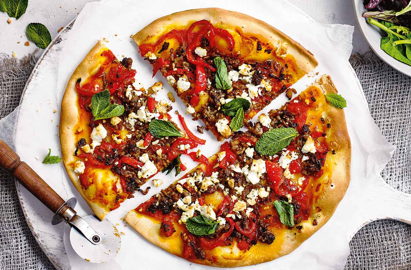 Speedy Turkish pizzas recipe