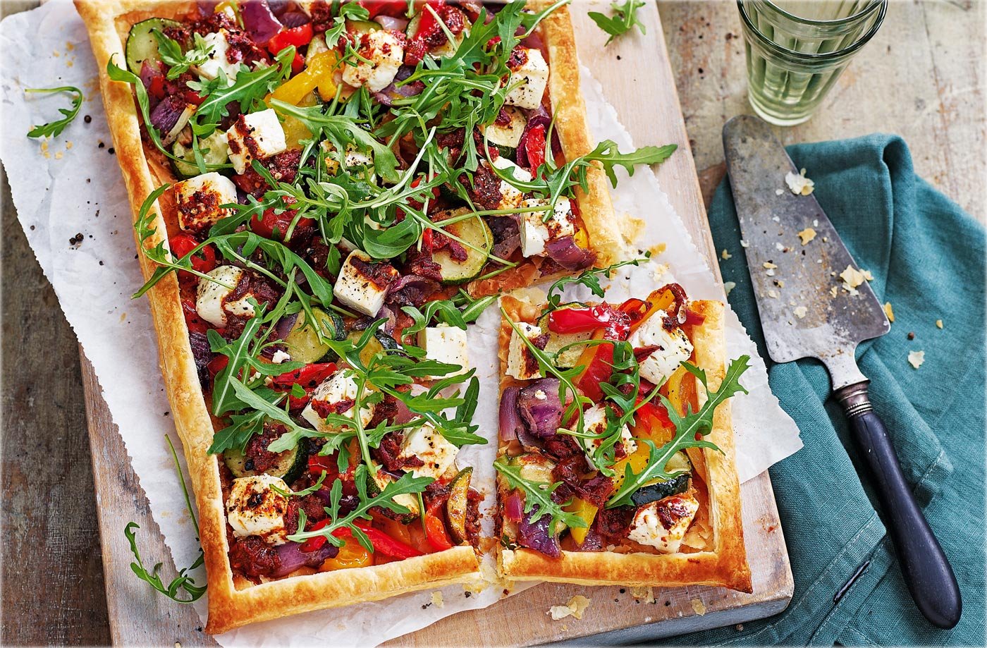 Harissa vegetable tart recipe
