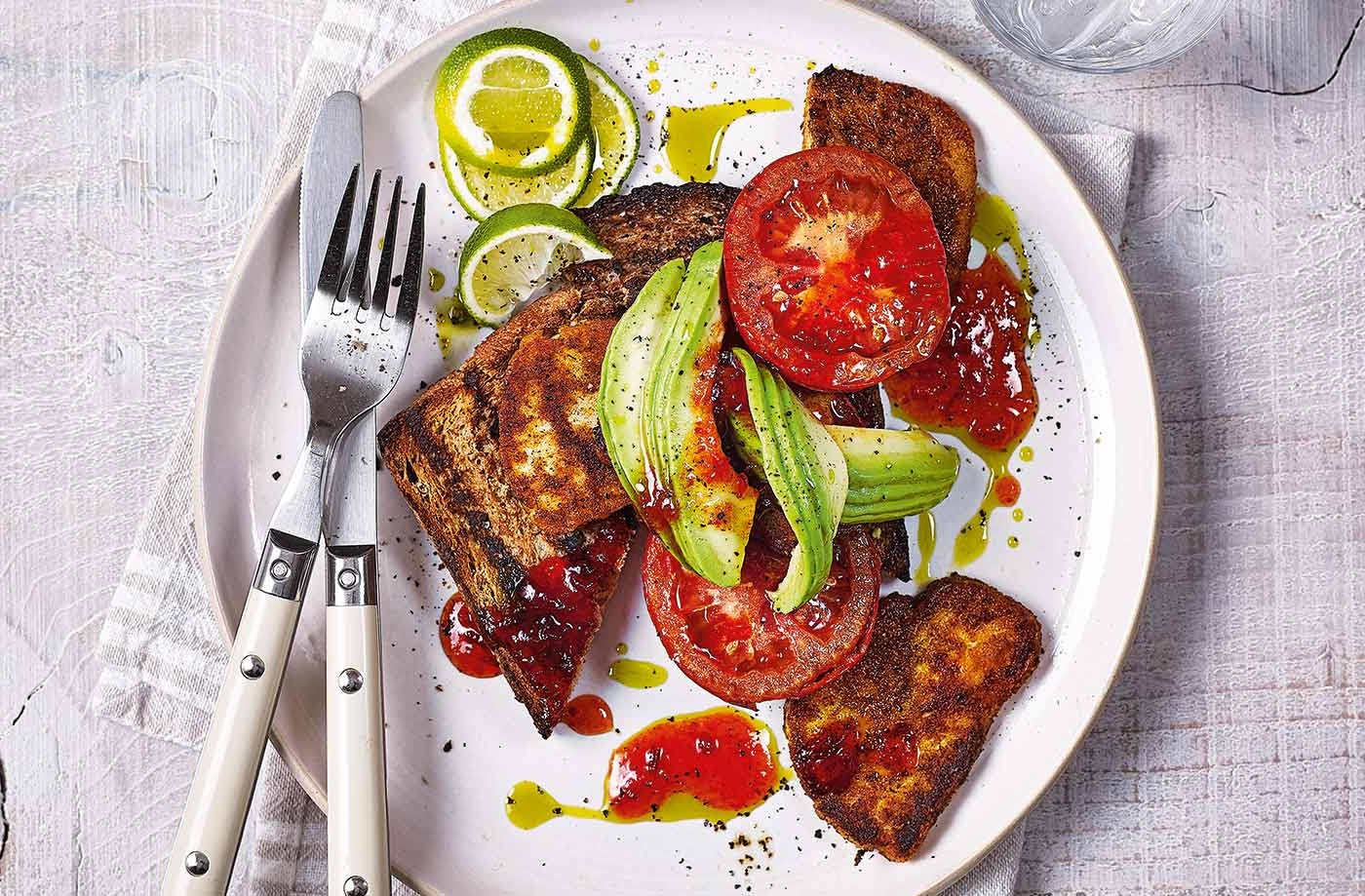 Spiced halloumi fry-up recipe