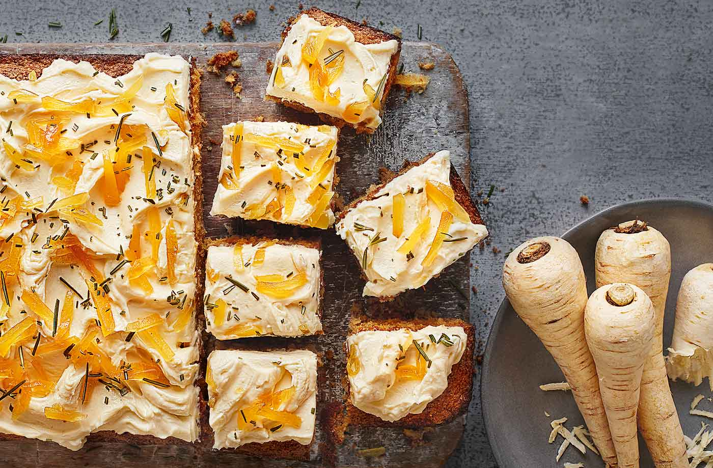Spiced parsnip cake recipe